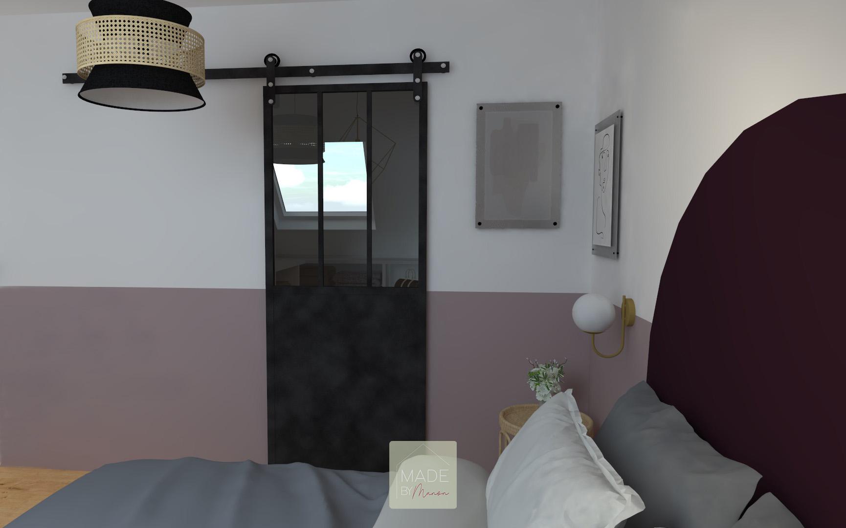 Chambre parentale avec dressing