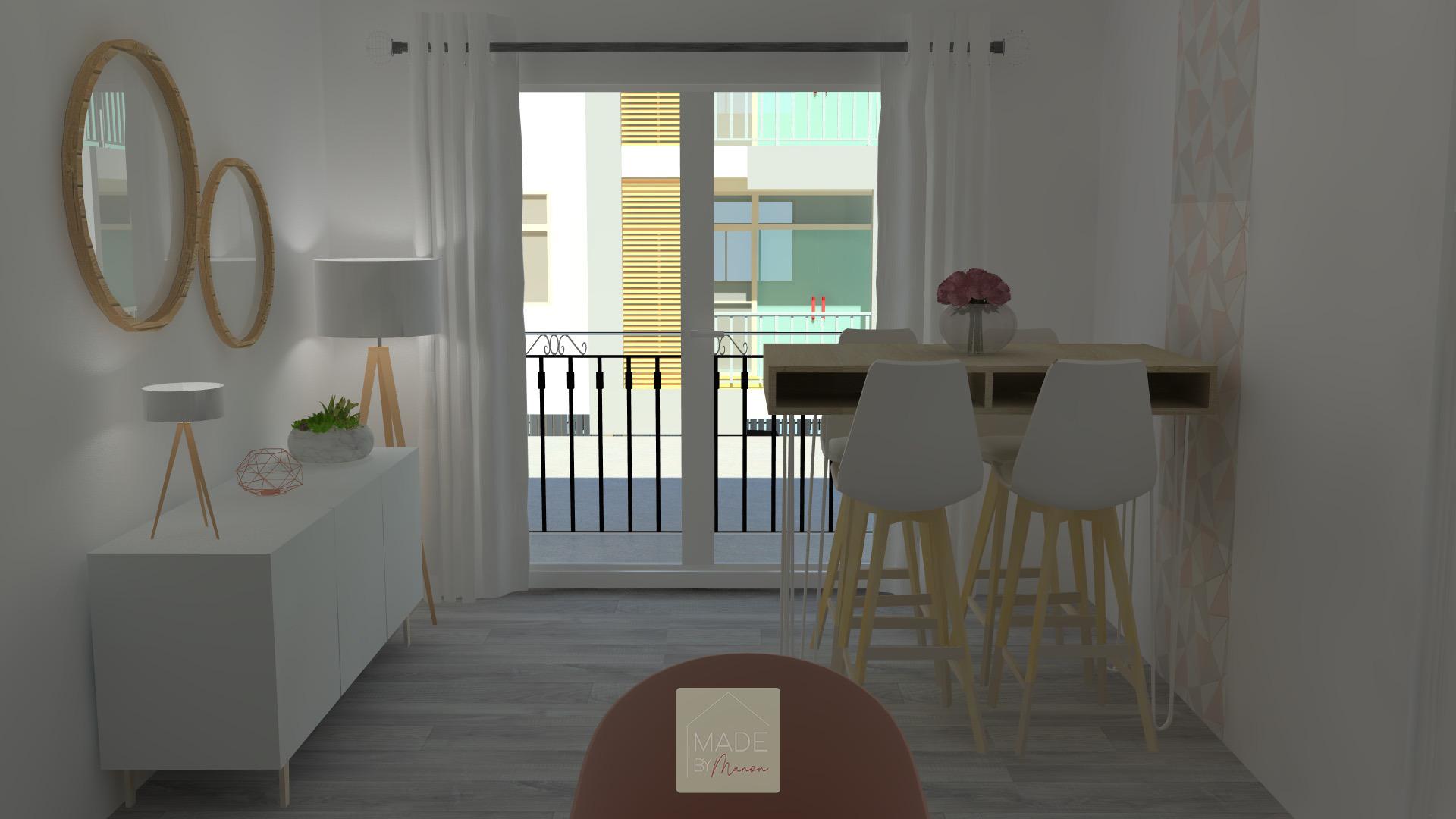 Appartement parisien aux mobiliers épurés et modernes